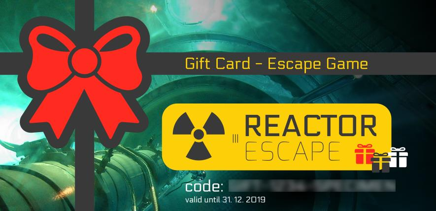 The Reactor Escape Gift Card